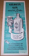 Gilbey's Gin '40s PRINT AD alcohol liquor advertisement clipping vintage... - $11.64