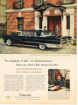 Vintage 1959 Magazine Ad Lincoln Classic Beauty And Unexcelled Craftsmanship - $5.93