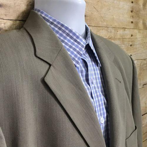 18e7b0f3 12. 12. Previous. Hugo Boss Einstein Omega Beige Gray Men's 44R Three Button  Wool Sport Coat