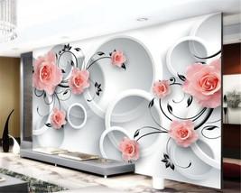 Beibehang Custom home decoration rose flower living room bedroom wallpaper for w - $35.95