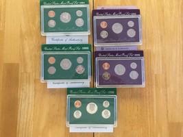 1992-1993-1994-1995-1996-S 1C-50C US Mint Coin Proof Set Lot of 5 w/ COA... - $89.00