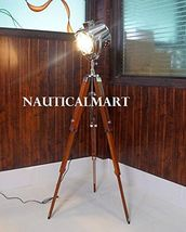 NauticalMart Classical Designer Chrome Finish Stand Tripod Floor Lamp Searchligt - $189.00