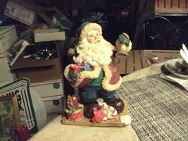 "20#36  Vintage Bell Ringing Santa Claus 5 1/2"" tall Christmas Decoration - $9.89"