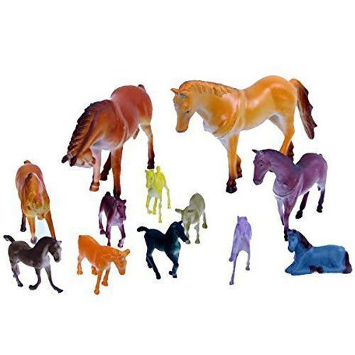 Dazzling Toys Horse Figurines - Assorted Horse Models (12 Count) for sale  USA