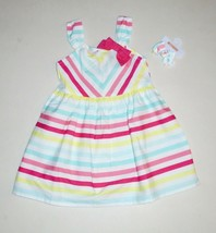 Gymboree Girls Striped Sun Dress Pony Holder  2T 4T  NWT - $19.79+