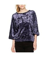 Unionbay Supplies | Admiral Blue Luna Crushed Velvet Top - NWT 3/4 Sleeve - $25.13