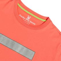 Men's Psycho Bunny Short Sleeve Logo Tee Rush Up Reflective Coral T-Shirt image 4