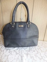 $89.00 Anne Klein Shimmer Down  Dome Satchel, Faux Leather, - $29.35