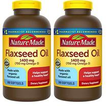 Nature Made Organic Flaxseed Oil 1,400 mg - Omega-3-6-9 for Heart Health - 300 S - $48.55