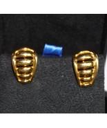 Napier Vintage Gold Tone Clip on Earrings 1 inch  w/ Screw Adjust  - $18.98