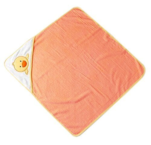 Lovely Cartoon Series Soft Baby Hooded Bath Towel, Orange Chicken (7373CM)