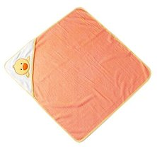 Lovely Cartoon Series Soft Baby Hooded Bath Towel, Orange Chicken (7373CM)
