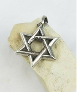Chrome Hearts men sterling silver .925 Star of David rock punk pendant 2... - $742.50