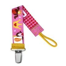 Princess Pacifier Clip - Girls - Ulubulu - Pink - Universal Binky Clip -... - $7.99