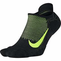 NIKE Spark Wool Cushioned No-Show Running Socks, Black/Volt, 12-13.5 - $25.73