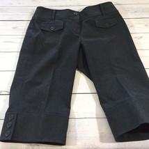 Ann Taylor Loft Gray Bermuda Dress Shorts Sz 4 Pedal Pusher Knee Length ... - $13.76