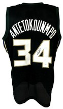 GIANNIS ANTETOKOUNMPO SIGNED PRO SYTLE CUSTOM BLACK JERSEY JSA AUTHENTIC... - $177.21