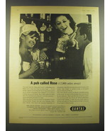 1964 Qantas Airlines Ad - A pub called Rose (12,000 miles away) - $14.99
