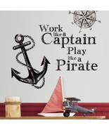 Work Like a Captain Quote Wall Decals - $17.99