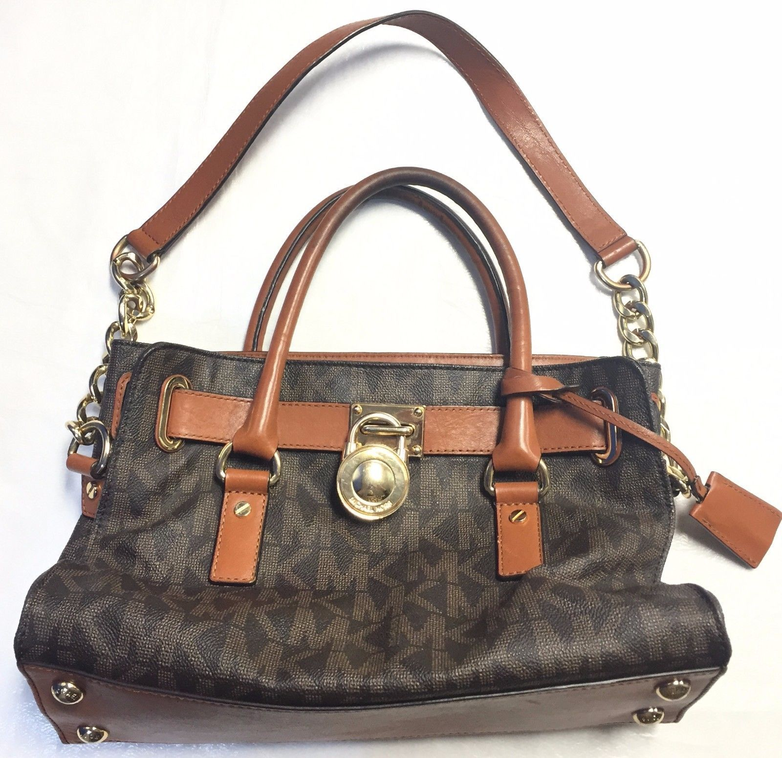 fdf9ebdca0c6df Michael Kors Hamilton Large Logo Tote Bag W/ and 38 similar items. S l1600