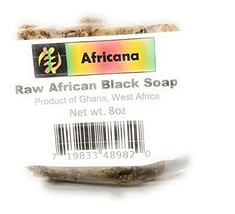 African Black Soap 100% Pure Raw 8 oz. image 1