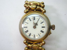 NAIL SET ROMAN NUMERAL PORC DIAL VINTAGE WATCH FOR RESTORATION OR TRENCH... - $134.49
