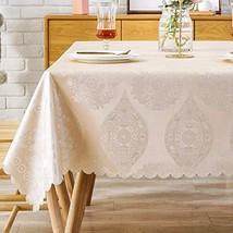Picnic Tablecloth Vinyl Oilcloth PVC Wipeable Plastic Spillproof Peva Oi... - $34.43