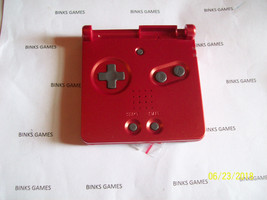 Nintendo Game Boy Advance SP Flame Red Bottom Shell Both pieces with but... - $7.18