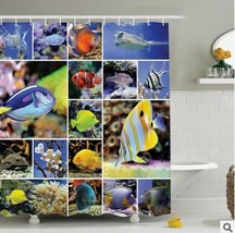 The shower curtain submarine series digital 3 d printed shower curtain Polyester - $35.31