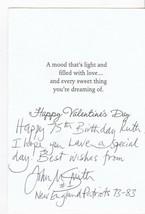 JOHN M SMITH AUTOGRAPHED HAND WRITTEN VALENTINES CARD NEW ENGLAND PATRIO... - £3.25 GBP