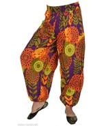 10 Cotton Printed Pintuck Boho Harem Balloon Trousers Womens Gypsy Pant ... - $80.75