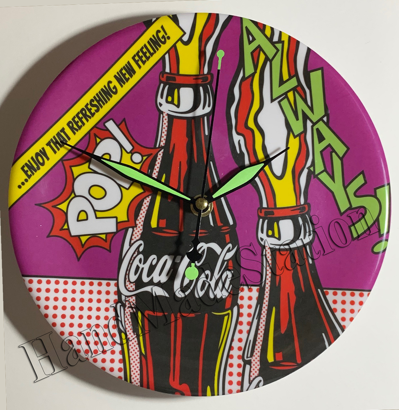 Coke circl pop wall clock2