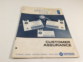 Chrysler Master Technicians Service Reference Book 758 75 8 Customer Assurance - $12.99