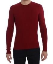 Dolce & Gabbana Red Cashmere Ribbed Pullover Sweater - $320.05