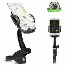 Amoner 3-In-1 Cigarette Lighter Car Mount Charger Phone Holder with Dual... - £12.32 GBP