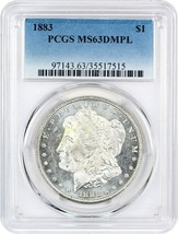 1883 $1 PCGS MS63 DMPL - $349.20