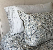 Pottery Barn Set 2 Mackenna King Shams Paisley Blue Pair - $79.12