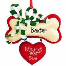 "Kurt Adler 3.75"" Flatback Resin ""worlds Best Dog"" Ornament - $14.85"