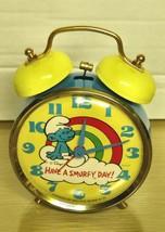 1980's Smurfs- Bradley Windup Alarm Clock VF/Ex - $29.69