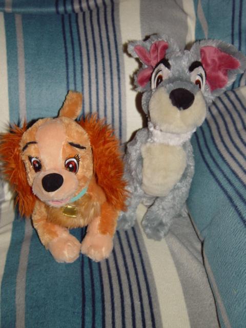 Walt Disney World Lady and Tramp Plush Puppy 2 PC Set