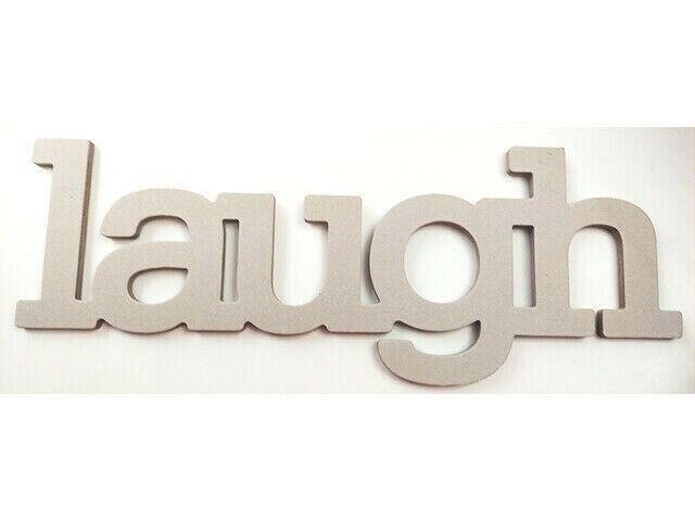 The Paper Studio Chipboard Laugh Word, 12 Inches #329367