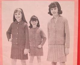 Vintage Patons Beehive Knitting Patterns CHILDREN GIRLS Jacket Skirt 8 - 12 - $5.95