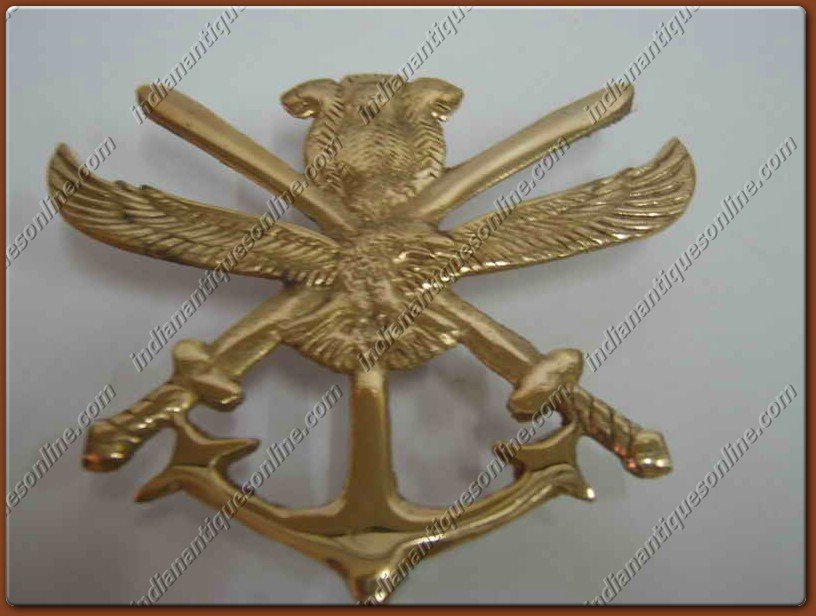 CLASSIC BRAND NEW VINTAGE BRASS ARMY DECAL WITH FIXINGS