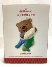 NEW 2013 Hallmark Keepsake Grandson Christmas Ornament Bear Stocking - $7.91