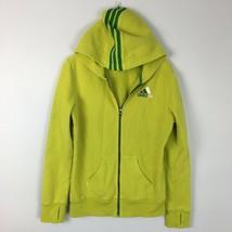 Adidas Women's Bright Yellow Green Full Zip Hoodie Sweater Size Medium  - $19.79