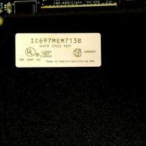GE FANUC IC697CPU771R CPU MODULE W/ IC697MEM713B 64KB CMOS MEMORY IC697CPU771 image 7