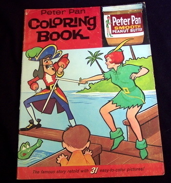 1963 Peter Pan Peanut Butter Coloring Book Ad Giveaway
