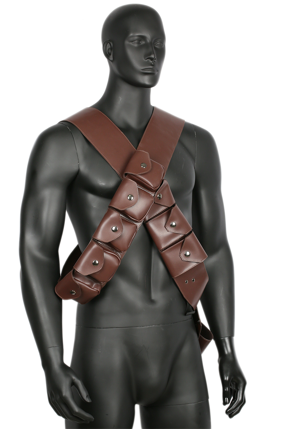 Cosplay Belt Brown Leather Sole Survivor Strap Costume Props Adult New Xcoser