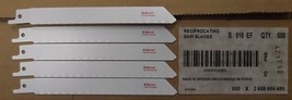 "Bosch S918EF 6"" x 18TPI Bi-metal Recip Saw Blades 5pcs. Swiss - $3.96"