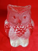 Mid Century Mod Viking Clear Glass Handmade Owl Figure Figurine Paperwei... - $40.57